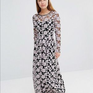 ASOS True Decadence Embroidered Lace Maxi Dress 8P